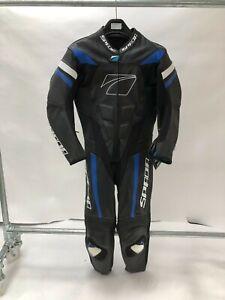 Spada-Curve-Evo-1-Piece-Leather-Motorcycle-Race-Suit-Black-BLUE-42