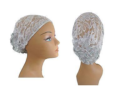 Womens LACE Beanie Hat Bun Cap Skull Cap Knit Hat Brand New USA seller