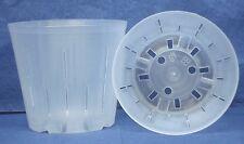 Clear Plastic Pot for Orchids 5 inch Diameter - Quantity 2
