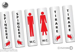 Targhetta-adesiva-verticale-a-scelta-tra-i-6-soggetti-Spingere-Tirare-W-C