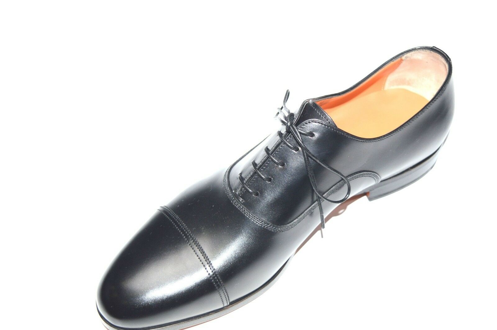 NEW SANTONI SANTONI SANTONI Dress Black Leather shoes  SIZE Eu 44 Uk 10 Us 11 (29R) f7c67e
