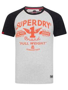 Stadium Silver//Bass Blue Grndl Superdry Full Weight Raglan Tee