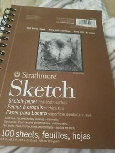 100 Sheets Strathmore 400 Series Recycled Sketch Pad 5.5x8.5 Wire Bound