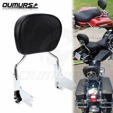 Detachable Backrest Sissy Bar w//Pad For Harley Touring FLHR FLHX FLHT FLTR 97-08