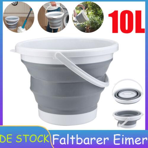10L Falteimer Camping faltbarer Falt Eimer Campingeimer 10 Liter Wassereimer