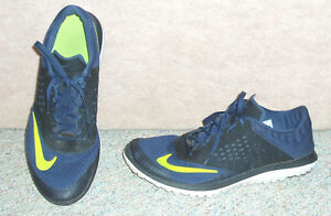 buy popular e367a 46ad4 Image is loading Men-039-s-navy-neon-green-NIKE-FS-