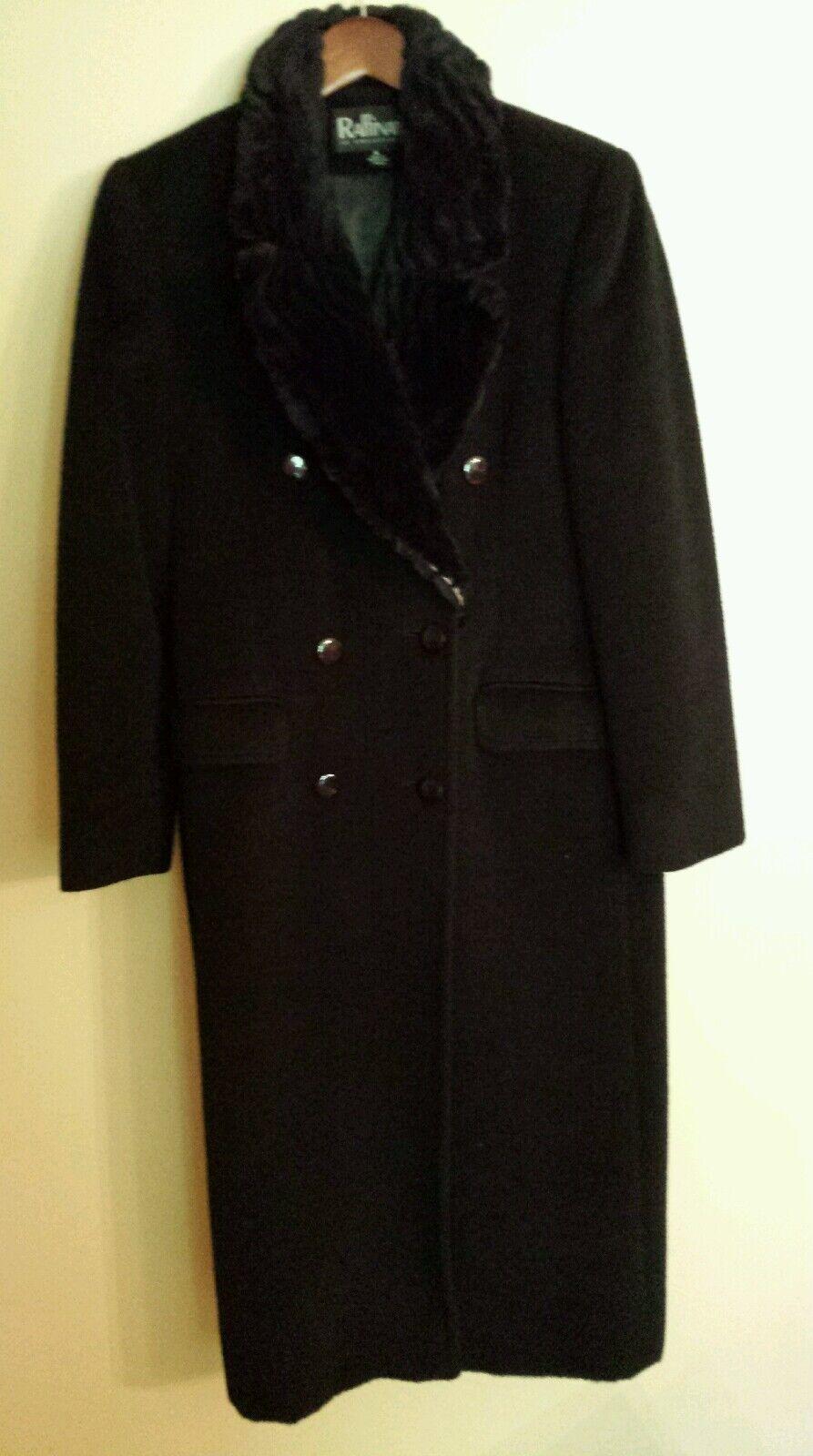 Raffinati womens coat size 6 alpaca wool with sheared fur