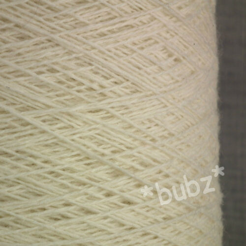PURE WOOL YARN 500g CONE 10 BALL 3 PLY UNDYED ECRU NATURAL CREAM KNIT DYEING HUA