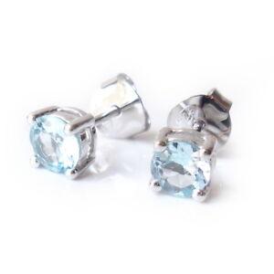 5mm-Sky-Blue-Topaz-Gemstone-925-Sterling-Silver-Stud-Earring-December-Birthstone