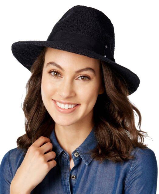 Inc International Concepts Women s Black Belted Panama Hat Adjustable 1 Size 9a2f60370d2