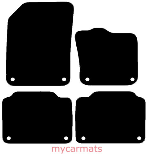 Carsio Tailored Carpet Car Floor Mats with logo 8 Clips TO FIT Volvo V70 2008 to 2016 Auto