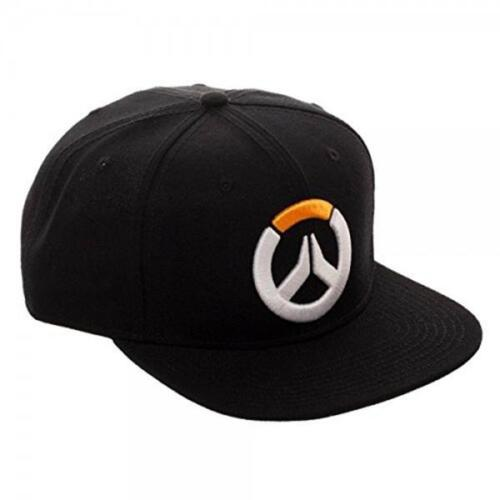 Overwatch Black Logo Snapback Hat NEW Animation Clothing Video Games