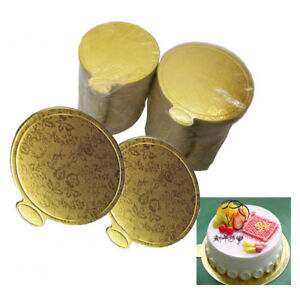 20-Cake-Paper-Mousse-Cake-Boards-Gold-Cupcake-Dessert-Displays-Tray-Pastry-Decor