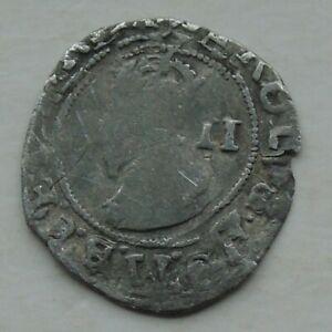 Charles I Stuart Period Civil War mm (P) Silver Half-Groat Tower Mint 17mm 0.79g