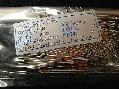 200 // 5/% R/ésistances carbone 150K Ohms 1//4 Watts