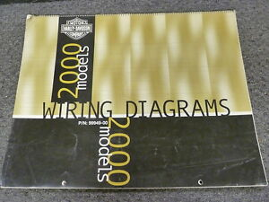 details about 2000 harley davidson electra glide road king electrical wiring diagram manual 2003 Sportster Wiring Diagram