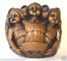 Singing Angels Reproduction Carving Thistle Chapel Scottish Cherub Gift Ornament