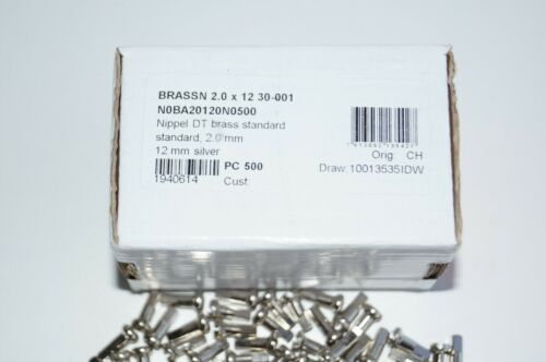 DT Swiss Brass Silver Nipples 2.0 x 12mm Pack of 48 /& 72 /& 100