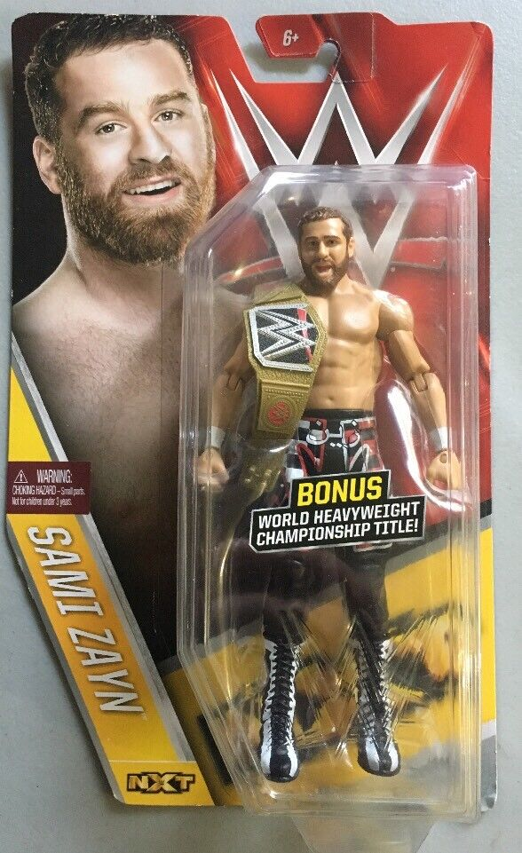 WWE SAMI ZAYN CHASE BELT WWF NXT MATTEL BASIC SERIES 61 WRESTLING ACTION FIGURE