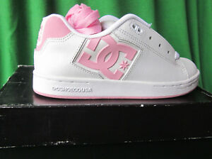 d4131078ad DC ROB DYRDEK SNEAKERS SHOES SKATE BOARDING WHITE PINK SZ 1.5Y 1.5 ...