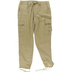 Ralph-Lauren-Cargo-Pants-Tan-Twill-Jogger-SMALL-28-AU10-US6-UK8-NEW-Women-Lauren