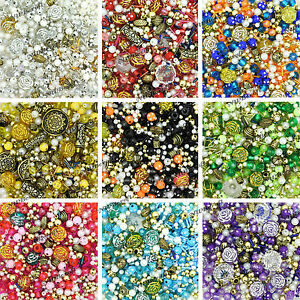 400-x-Jewellery-Making-Mixed-Colour-Beads-Assorted-Colours
