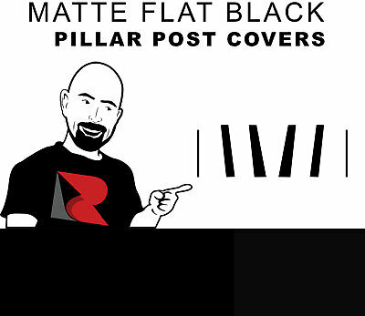 Black Rvinyl Rtrim Pillar Post Decal Trim for Toyota Avalon 2000-2004 Matte