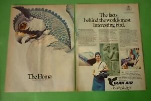 1977-Original-Advertising-039-Air-Iran-Airlines-The-Homa-2-Pages