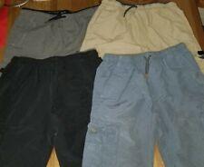 Univibe Big Boys Drawstring Cargo Shorts Black Medium 8-20