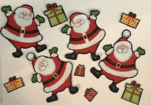 Jolly-Old-St-Nick-Santas-for-Christmas-Iron-On-Fabric-Appliques-Craft-Show
