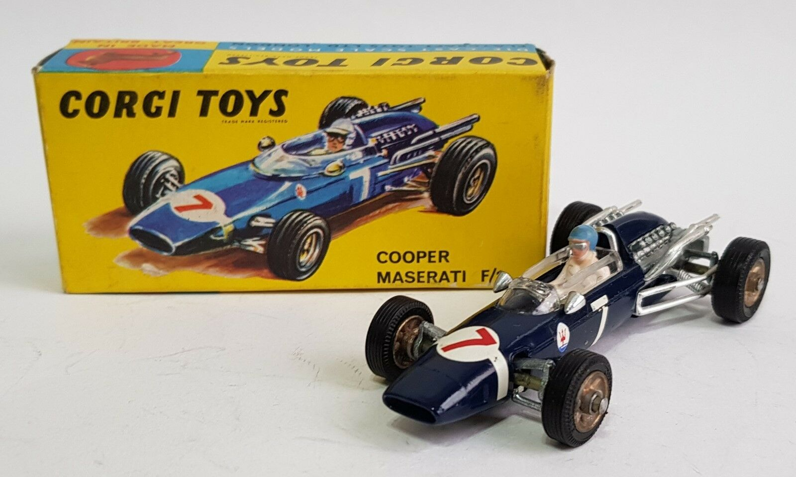 Corgi Toys No. 156, Cooper - Maserati Maserati Maserati F1 Racing Car, - Superb Mint. c69958