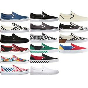 c17ef4920474 VANS CLASSIC SLIP ON UNISEX MEN S WOMEN S COMFY SHOES LIFESTYLE ...