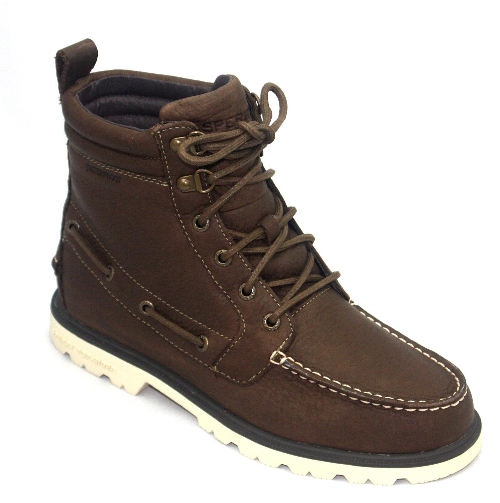 Herren Herren Herren Sperry dunkelbraun Original Noppen Stiefel Schuhe Wanderer 879106