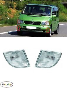SIDE REPEATER SET BRAND NEW MERCEDES VITO 1996-2003 CLEAR FRONT INDICATORS