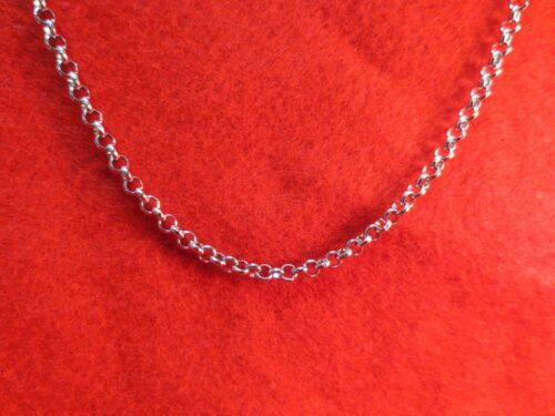 28 INCH SILVER STAINLESS STEEL 4MM ROLO  LINK ROPE CHAIN NECKLACE