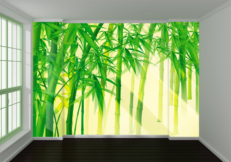 3D Sunlight Bamboo 7 Wall Paper Murals Wall Print Wall Wallpaper Mural AU Summer