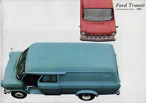 508696d080 Ford Transit Mk1 1967 UK Market Foldout Sales Brochure SWB LWB Van ...