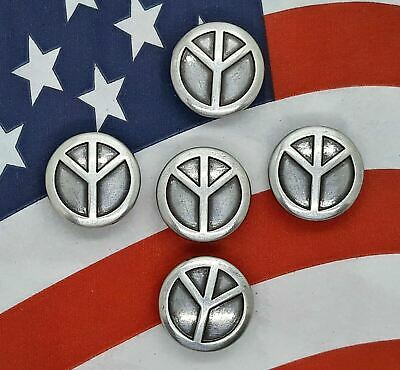 34 Peace Sign Small Conchos   Concho 5 Count Approx