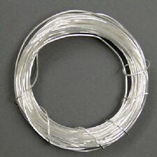 3 m Silberdraht (echt); 925 Silber; Strickdraht 0,25 mm rund
