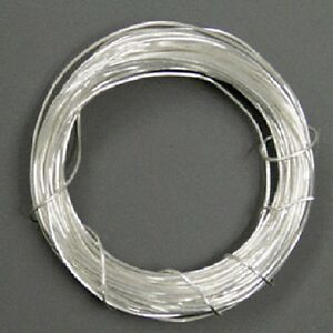 3 m Silberdraht (echt); 925 Silber; Strickdraht 0,25 mm rund | eBay