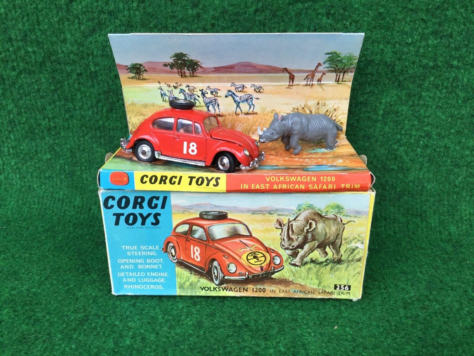 Corgi Juguetes Nº 256 Volkswagen VW 1200 en East African Safari recorte en Caja