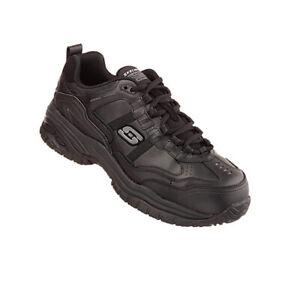 Skechers-Soft-Stride-Unisex-Sicherheitsschuhe-77013EC-schwarz-BLK-Stiefel-Safety