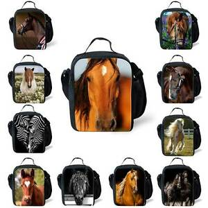 225ce54d06bc Image is loading Horse-Thermal-Insulated-Picnic-Lunch-Bags-Kids-School-