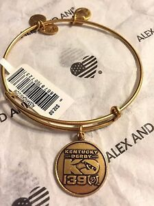 cbe925a061ddbf Alex and Ani Kentucky Derby 139 Horse Charm Bracelet Bangle ~ Gold ...