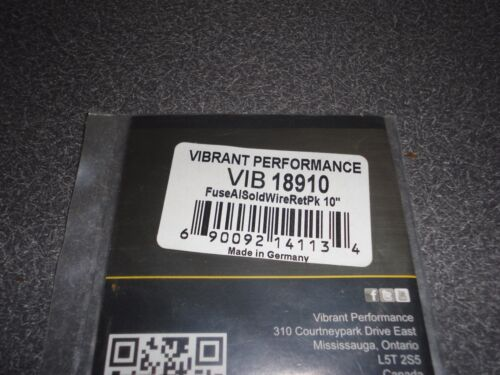 """New Vibrant Performance Aluminum Soldering Fuse Wire 18910 10/"""" Pk w//o Welding"""