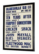 Fleetwood Mac, John Mayall, Ten Years After, Chicken Shack Gig Poster 1968
