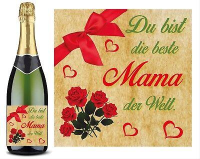 flaschen aufkleber du bist die beste mama der welt muttertag geburtstag geschenk   ebay