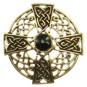 Keltische Kreuz Brosche Bronze Gothic Schmuck - Neu GroßE Auswahl;