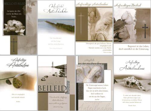 50 Trauerkarten Trauerkarte Trauer Beileidskarten Kondolenzkarten 811720 TA