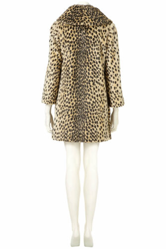 Topshop Uk Coat 10 Leopard In Faux Fur Vintage New Multi Splendida 5a0qFF